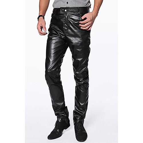 Slim fit pants for men black