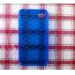 Bubble Transparent Soft Case for iPhone4 (Blue)