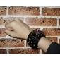 Montre-Bracelet à Quartz Style Gothique, Bracelet en Cuir