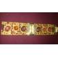 Женские Модные часы Часы-браслет Японский кварц Имитация Алмазный Кварцевый сплав Группа Блестящие Элегантные часы Люкс Золотистый