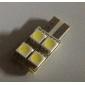 자동차 표시 램프의 canbus에 대한 T10 2w 5050 SMD 4 LED 백색 전구 (2 팩, DV 12V)