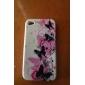 borboleta padrão caso gel de sílica protetora macia para o iphone 4