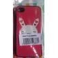 Жесткий матовый чехол с кроликом для iPhone 4 и 4S (разноцветный)