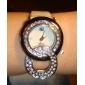 Женские кварцевые часы с ремешком из кожзама (разные цвета)
