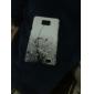 Noir Etui rigide avec motif Vignes Diamond pour Samsung Galaxy S2 I9100