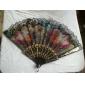 dentelle florale ventilateur se pliant (couleur aléatoire)