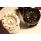 Кварцевые аналоговые наручные часы, силиконовый ремешок (черный)