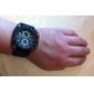 남성 스포츠 시계 석영 일본 쿼츠 실리콘 밴드 블랙 상표 V6
