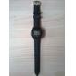 남여 고무 실리콘 시계 밴드 20mm (블랙)
