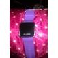 Relógio Unissexo LED em Silicone (Púrpura)