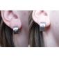 Eruner®Men's Drawing Titanium Steel Earrings with Rhinestone Mounted