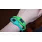 Par de Relógios Unissexo em Silicone (Verde e Lima)