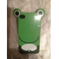 Жесткий чехол с лягушкой для iPhone 4 и 4S (зеленый)