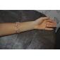 lureme®pink résine circulaire bracelet élastique