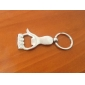 металлического серебра ладони брелок для ключей с открывалка для бутылок
