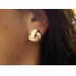 boucles d'oreilles colorées enroulement
