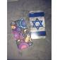 Израильский флаг шаблон жесткий футляр для iphone 4 и 4S (многоцветные)