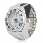 унисекс сплава аналоговые часы, кольцо с римскими цифрами (серебро)