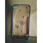 Capa Rígida com Padrão de Borboleta e Dentes de Leão para iPhone 4/4S