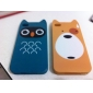 Cartoon Bear Pattern Hard Case for iPhone 4 and 4S (Yellow)