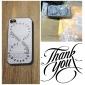Duplo Círculo Wild Geese Coloured desenho Padrão Black Frame PC Hard Case para iPhone 4/4S