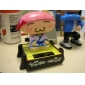 Solar Powered Sushi Chef Shaking Head Toy Pink Sushi Head