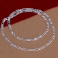 Silver 4mm Italian Figaro Chain Necklace Christmas Gifts