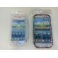 coloré ruban motif de fleur TPU pour Samsung Galaxy i9300 s3 (multi-couleur)