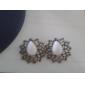 European And American Fashion Retro Court Hollow Pattern Drop Beads Earrings Earrings E140