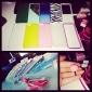 Прозрачный бампер с цветной оконтовкой для iPhone 5/5S (разные цвета)