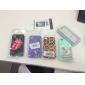 Silver Square Rebites coberto Escadas Padrão Hard Case com cola para iPhone 4/4S (cores sortidas)