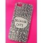Porque Padrão Cats PVC Case Voltar para o iPhone 5/5S