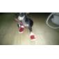 Chat Chien Chaussures & Bottes Noël Nouvel An Hiver Printemps/Automne Couleur Pleine Rouge Coton