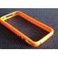 아이폰 4 / 4S를위한 금속 단추와 TPU 범퍼 프레임 케이스 (모듬 색상)