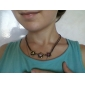 European and American jewelry wholesale cute candy colored flower sweater chain necklace N211