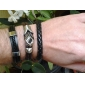 Z&X® Single Color Cross Weave Leather Galloon Bracelet Jewelry Christmas Gifts