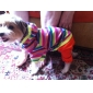 Colorful Striped Jacket & Pants Coverall for Dogs Pets