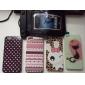Joyland TPU Glitter Case Retour de grain de léopard de lapin pour l'iPhone 5/5S