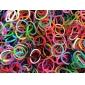 baoguang®600pcs arc en ciel couleur de la mode métier à tisser bande de caoutchouc (le clip de 1package)