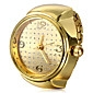 Women's Fashion Watch Ring Watch Wrist watch Quartz Alloy Band Gold