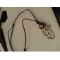 Homme Pendentif de collier Colliers Vintage Forme de Croix Cuir Alliage Fait à la main Argent Bijoux PourQuotidien Décontracté Regalos de