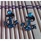 Brincos Curtos Jóias de Luxo imitação de diamante Liga Âncora Jóias Para Diário