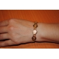 u7® 18k ouro real robusto banhado muçulmanos allah pulseira jóias dom islâmico para mulheres homens 19 centímetros