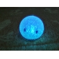 Sourire visage en forme de cristal coloré LED Night Light Lamp (3xLR44)
