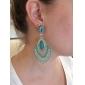 여성 드랍 귀걸이 고급 보석 의상 보석 레진 모조 다이아몬드 합금 보석류 제품 결혼식 파티 일상