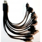 Universal 10-in-1 USB Power Cable (27cm, Black)