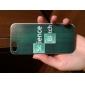 fond vert étui rigide de forme anglaise pour iphone 5/5 ans
