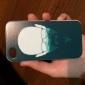 caso duro homem padrão de óculos para iPhone 4 / 4S