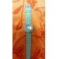 아가씨들 패션 시계 캐쥬얼 시계 석영 실리콘 밴드 캔디 블랙 화이트 블루 레드 브라운 그린 핑크