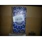 Blue Flower Pattern Hard Back Case for iPhone 5/5s/SE
